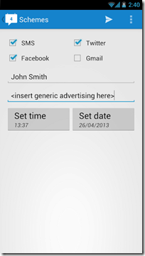 message-scheduling