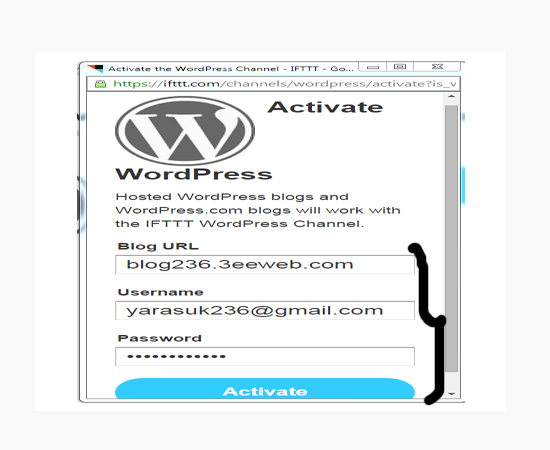 wordpress-details-ifttt