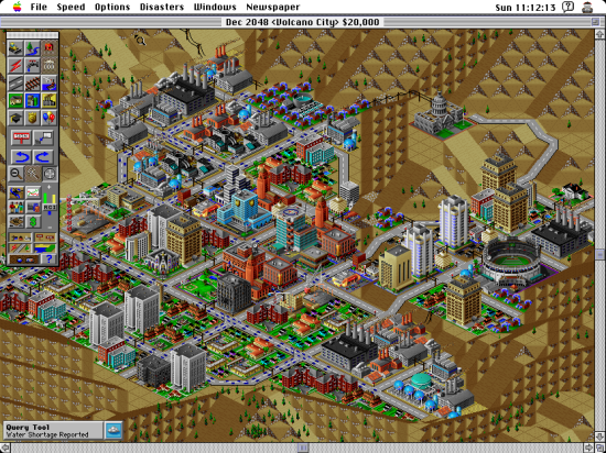 SimCity 2000 game