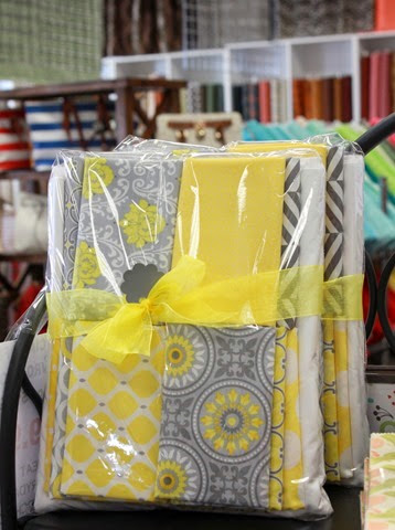 Gray and Yellow quilt kit