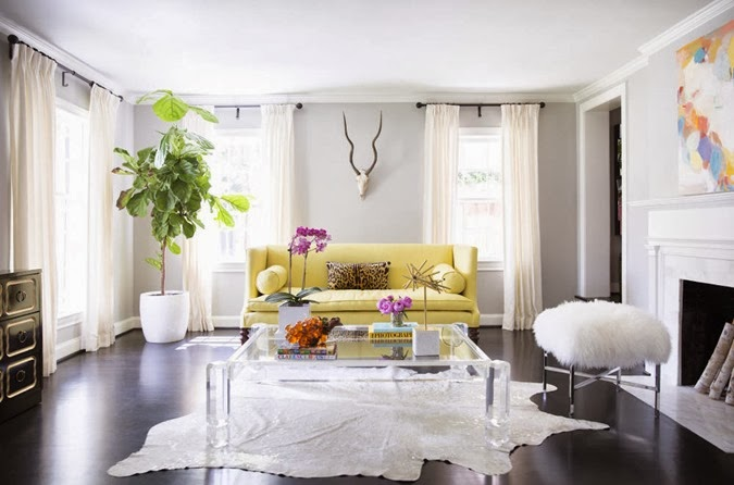 Sally_Wheat_Domino_magazine_yellow_sofa_acrylic_coffee_table