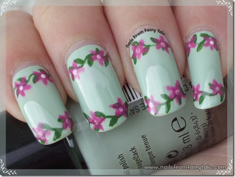 pastel green with flowers 2