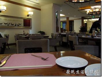 惠州-康帝國際酒店。早餐的用餐環境。