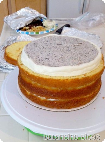 Cake with dam and filling