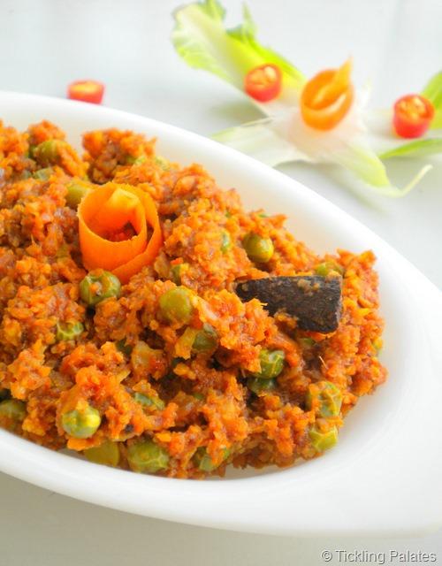 Vegetarian Keema Matar
