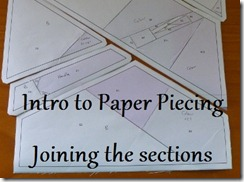 Quiet Play's Intro to Paper Piecing - Joining the Sections