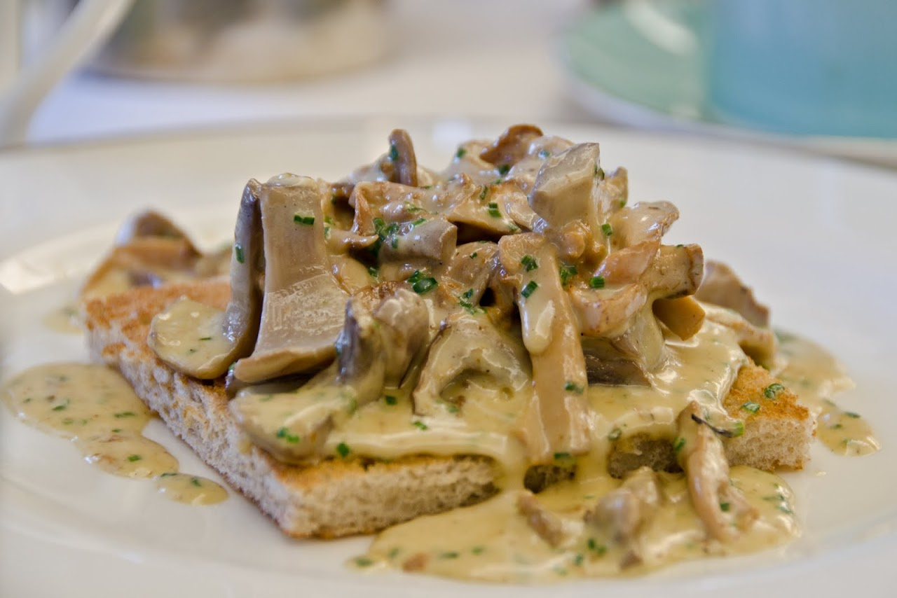 Mushrooms on toast at Fortnum & Masons
