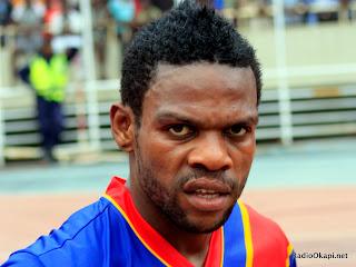 Matumona Zola, l'international congolais lors du match RDC - Ile Maurice (3-0) au stade de martyrs, ce 28/03/2011 à Kinshasa.  Radio Okapi/Ph. John Bompengo