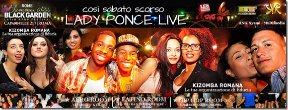 FLYER - BLACK GARDEN- lady ponce show