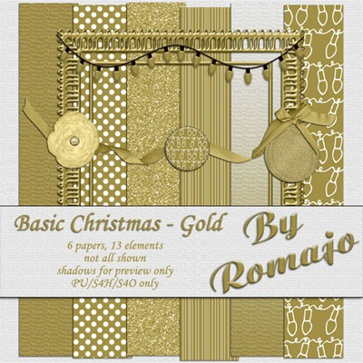 Basic Christmas - Gold