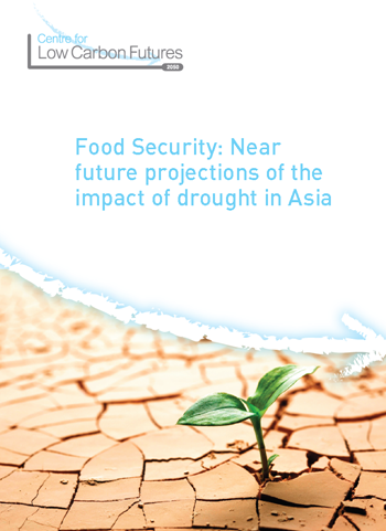 Cover of the report, 'Food Security: Near future projections of the impact of drought in Asia', available online at www.lowcarbonfutures.org. leeds.ac.uk