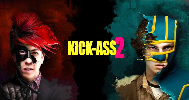 Poster de Kick Ass 2 que eu peguei no DeviantART