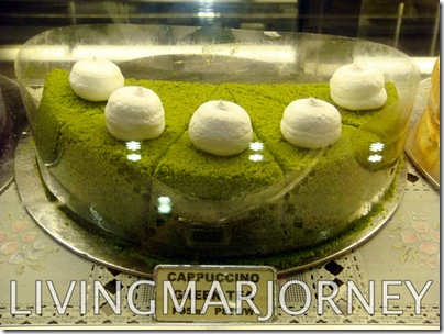Cappuccino Green Tea Cake