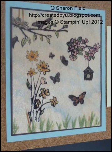 Up in the air hostess set stamped wood sheet