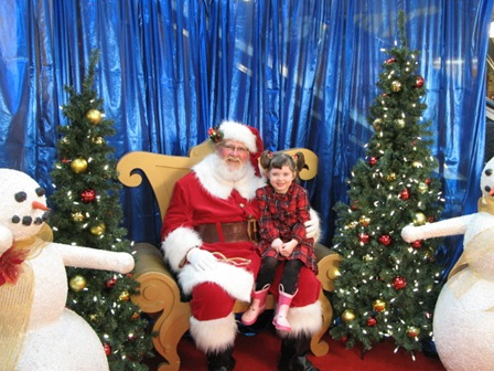 smiling with santa