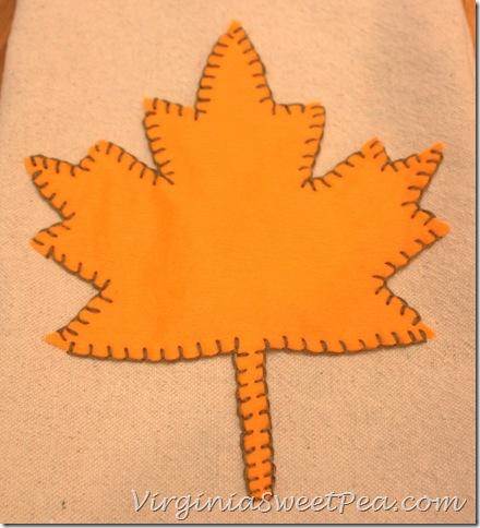Leaf on Drop Cloth Tea Towel