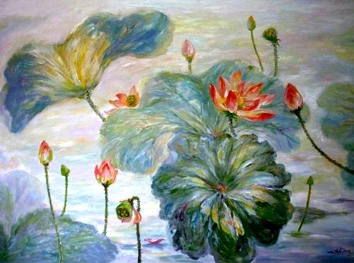 tranh son dau cua hoa si nhuan thuong 11