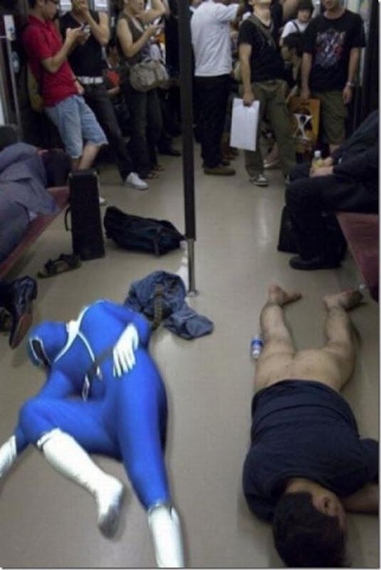 Um dia comum no metro