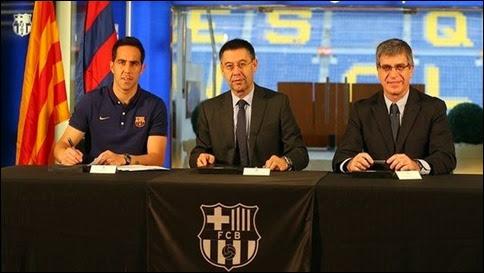 Ver Online El Barcelona presentó a Claudio Bravo como su nuevo portero (HD)
