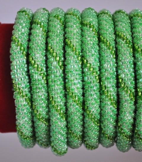 Rollover Bead Bracelets Green Series