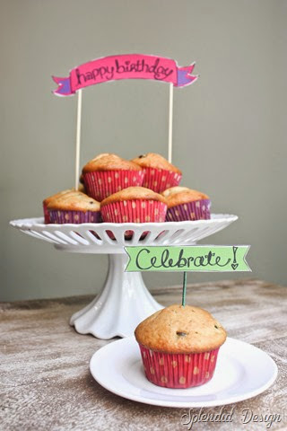 Chocolate Chip Muffin with free happy birthday printable