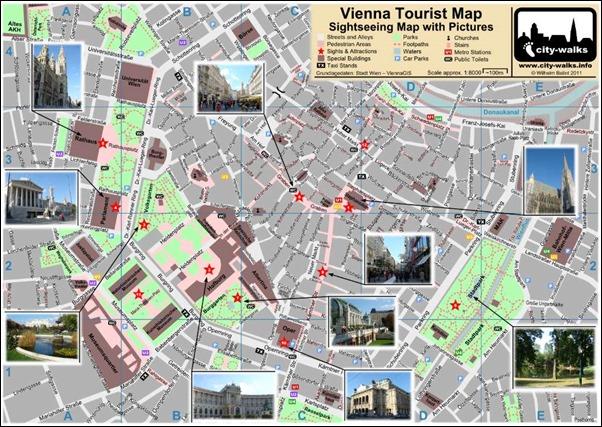 خريطة مدينة فيينا السياحية