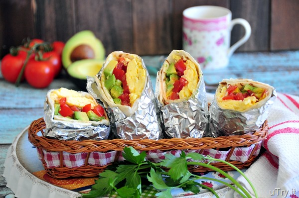 Breakfast Veggie Wrap