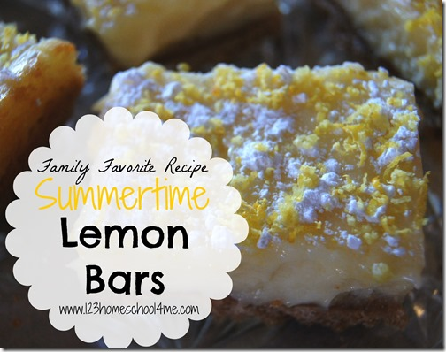 Family Favorite Recipe Summertime Lemon Bars #recipes #summer