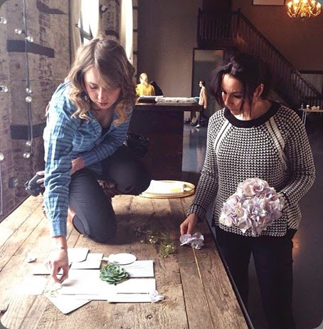 behind the scenes 1157658_719650171390113_1562834591_n Melissa Kruse Photo  and L'Oasis floral design and we heart paper (photo)