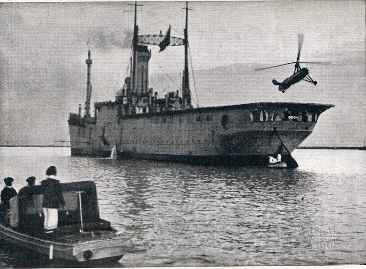 Despegue del autogiro. De la Revista General de Marina. Abril de 1.934. Foto Vidal.JPG