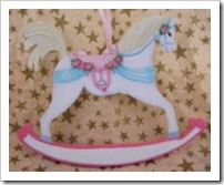 Girl's Rocking Horse Ornament