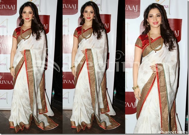 Tamanna_White_Traditional_Silk_Saree