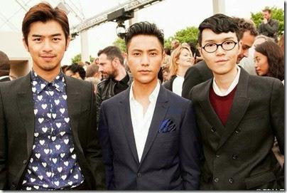 Burberry Prorsum Menswear Spring-Summer 2014 Show - Bolin Chen Chen Kun Khalil Fong