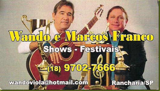 Wando e Marcos Franco Cartão
