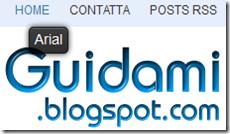 WhatFont su Guidami.blogspot.com