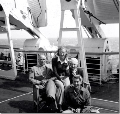 On the Sports' Deck on Orion 22nd April 1952
