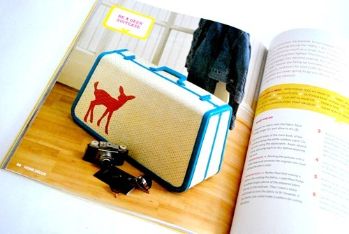 Mod Podge Rocks Book Suitcase
