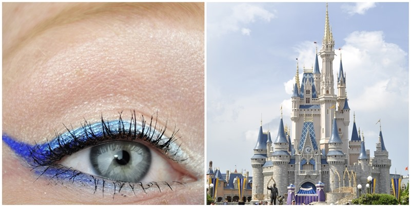 walt disney world inspired makeup cinderella castle the hub