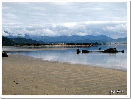 Karamea tidal river.