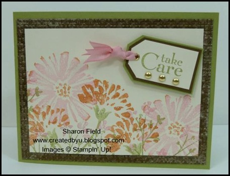 UDI38, color challenge, Sharon Field, Created by You, Fabulous Florets, Summer Mini Catalog, Blog Candy
