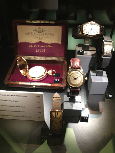 Loved this display of vintage styles from Tissot. The brand still uses them to inspire their new collections.
