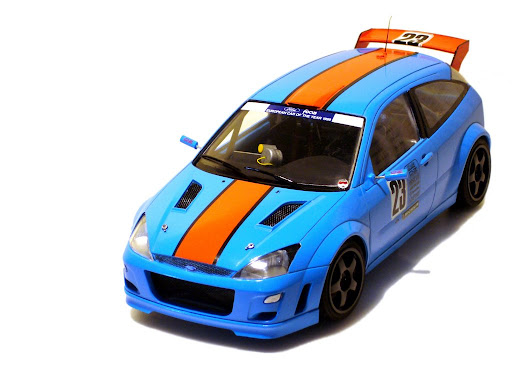 Ford Focus WRC rally car.