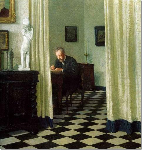 CarlMoll TheArtistInHisStudio 1906 AcademieDerBildenKunste-Gemaldgalerie