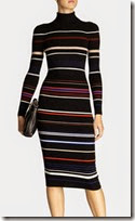 Karen Millen Stretch Knit Multi Stripe Dress