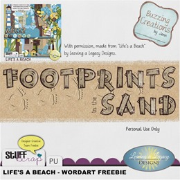 Leaving a Legacy Designs - Life's a Beach - Wordart Freebie Preview