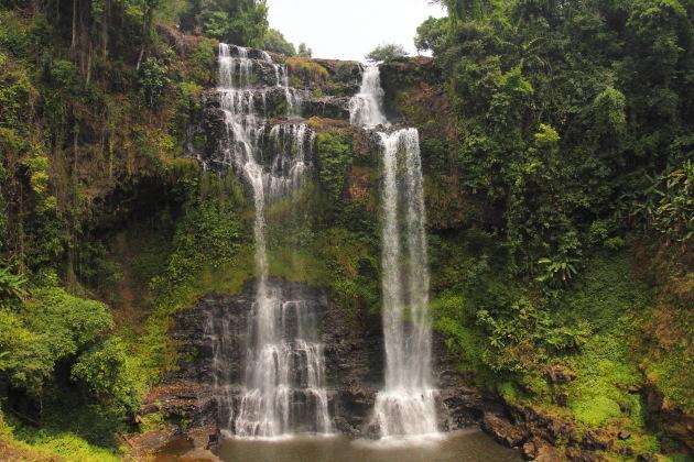 Green Tad Gneueng Waterfall, Bolavan Plateau, Laos