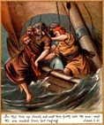 Jonah cast into the Sea