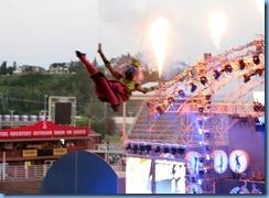 9583 Alberta Calgary Stampede 100th Anniversary - GMC Rangeland  Derby & Grandstand Show - Grandstand Show  - high wire acrobat