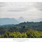 Midi d'Ossau desde el boulevard des Pirenees de Pau