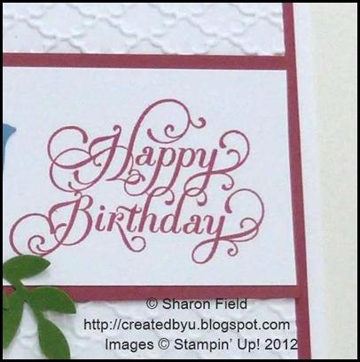 cas beautiful birthday image... 6.95 single stamp